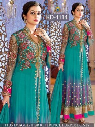 SEE GREEN GOWN/ANARKALI