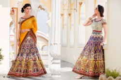 MULTICOLOR PURE HERITAGE SILK LEHENGA CHOLI