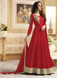 Red Banglori  Ankle-Length Readymade Suits