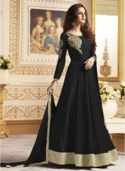 Black Banglori  Ankle-Length Readymade Suits