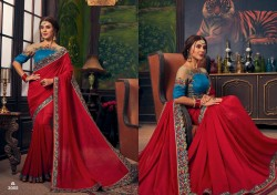 Red Cherry Silk Saree