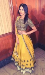 Yellow Georgette lehenga choli