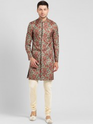 Men Multi-Coloured Sherwani Set