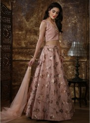 Light Pink Thai Silk Lehenga Choli