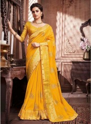 Yellow Paithani Silk Saree