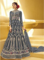Graphite Black Net With Embroidery Work Anarklai Suit
