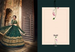 Dark Forest Green Soft Net Wedding Lehenga Choli