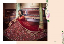 Mauve Soft Net Wedding Lehenga Choli