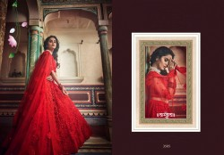 Ruby Red Soft Net Wedding Lehenga Choli