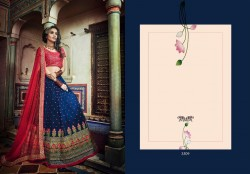 Blue Soft Net Wedding Lehenga Choli