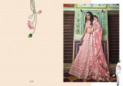 Light Pink Soft Net Wedding Lehenga Choli
